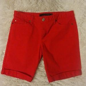 Red Calvin Klein shorts!